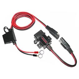 MOTOPOWER 0609A 3.1Amp Waterproof Motorcycle USB Charger Kit