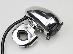"1"" 7/8"" 12 V-24V Metal Handlebar Chrome Waterproof Charger C"