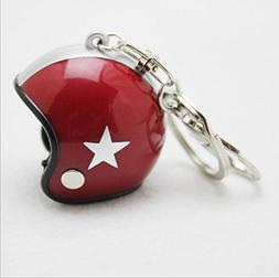 1 Pc Mini Pocket Motorcycle Helmets Keychain Keyring Keyfob