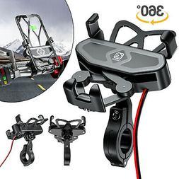 12-24V Motorcycle Bike Cell Phone GPS Handlebar Mirror Mount