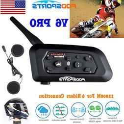 1200m Motorcycle Helmet Bluetooth Intercom Headset V6 Walkie