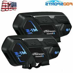 2Pcs 2000M M1-S Pro Motorcycle Intercom Bluetooth Interphone