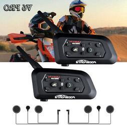 2pcs 1200M Intercom Motorcycle V6 Bluetooth Moto Interphone
