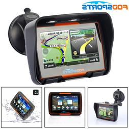 "4.3"" Bluetooth Motorcycle Car GPS Navigation Waterproof Truc"