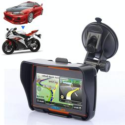 "4.3"" Bluetooth Motorcycle GPS Navigator Navigation Waterproo"