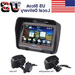 """4.3"""" BT Waterproof Motorcycle Car GPS Navigation Bluetooth B"""