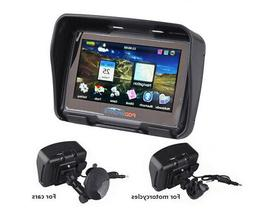 "4.3"" Car Motorcycle GPS Navigation 8GB SAT NAV Bluetooth Wat"