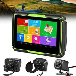 """4.3"""" HD DVR GPS Navigation Motorcycle Car Truck Waterproof N"""