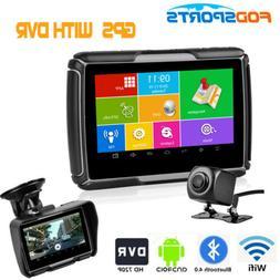 "4.3"" HD DVR Motorcycle GPS Touch Screen Bluetooth Car Naviga"
