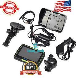 """4.3"""" Motorcycle Car GPS SAT NAV Bluetooth Navigation Waterpr"""