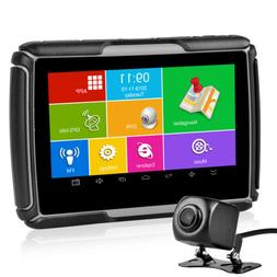 "4.3"" Motorcycle GPS Bluetooth Navigator DVR Recorder Waterpr"