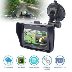 "4.3"" Touch Screen Waterproof Motorcycle Car GPS Navigation S"