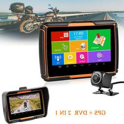 "4.3"" Motorcycle GPS Navigator + DVR Camera BT Android WiFi N"