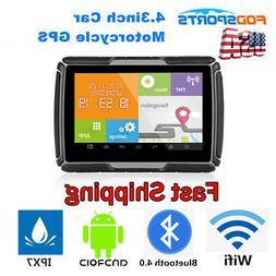 "4.3"" Motorcycle GPS Touch Screen Bluetooth Car Navigation Sa"