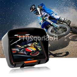 """4.3"""" Touch Screen Bluetooth Motorcycle Car GPS Navigation 8G"""