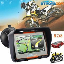 "4.3"" Touch Screen GPS SAT NAV Motorcycle Car Bluetooth Water"