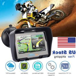 "4.3"" Touch screen waterproof Motorcycle Bike GPS Navigation"