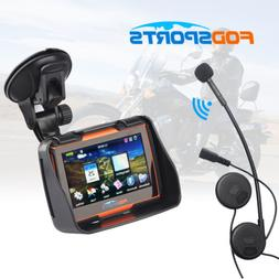 "4.3"" Waterproof Motorcycle GPS Navigation NAV Bluetooth Conn"