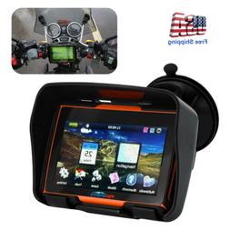 "4.3"" Waterproof Touch Screen Motorcycle Car GPS Auto SAT Nav"