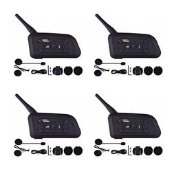 Amazingbuy 4 Sets Bluetooth Intercom,V6 BT 1200M Rang Talk F