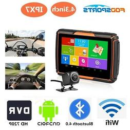 "5.0"" Motorbike GPS NAT Navigation Touch Screen Bluetooth Wat"