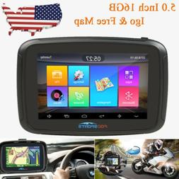 "5"" 16GB Touch Screen GPS Motorcycle Car Navigator Navigation"