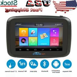 "5"" Android 6.0 Motorcycle 16GB GPS Navigation Bluetooth Truc"