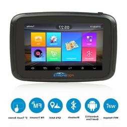 "5"" Android BT Car Motorcycle GPS Navigation 16G Bluetooth Wi"
