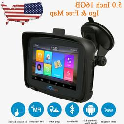 "5"" Android 6.0 Bluetooth GPS Navigator Car Motorcycle Naviga"