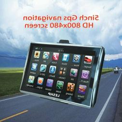 "5"" Motorcycle Car GPS Navigation 8GB Touch Screen SAT NAV +"