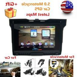 "5"" Motorcycle GPS Bluetooth Navigation 8GB Navigator Waterpr"
