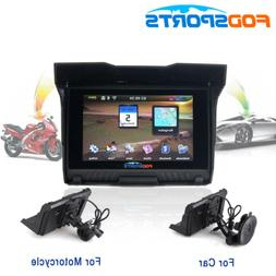 "5"" Win CE Motorcycle Car Truck GPS Navigation Waterproof Nav"