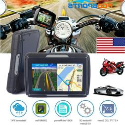 "8GB 4.3"" Waterproof GPS Navigation BT Motorcycle Navigator C"