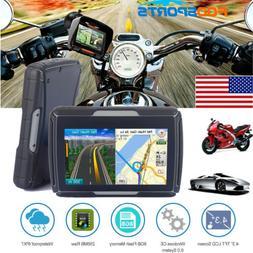 """8GB 4.3"""" Waterproof GPS Navigation BT Motorcycle Navigator C"""