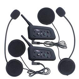 Amazingbuy 2 Sets V6 BT Intercom Bluetooth Interphone 1200M