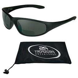 Motorcycle Wraparound Bifocal Sunglasses 3.00 with ANSI Z87.