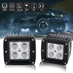 DOT 3inch Cube Pods Led Work Flood Lights OffRoad Driving Fo