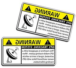 GPS Machine Alarm Security Caution Warning Decal Sticker