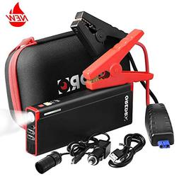 GREPRO Car Jump Starter Kit 1000A Peak 18000mAh Car Battery