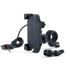 Meetou Motorcycle Phone Mount with 5V 2.0A USB Charging Port