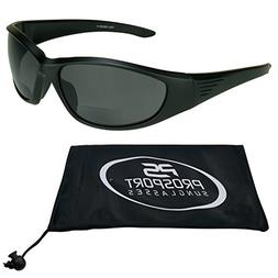 3a75fb310f Motorcycle Bifocal Polarized Sunglasses 1.50 with Smoke Polycarbonate