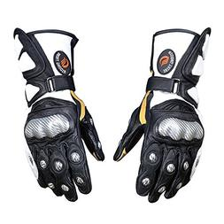Riding Tribe Motorcycle Genuine Goat Leather Gloves Built-in
