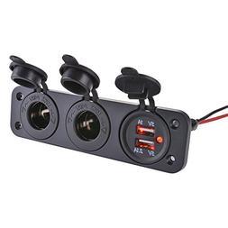 XCSOURCE Motorcycle Car 12V 24V Dual USB Charger Socket Adap