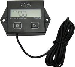 Yeeco Digital LCD Hour Meter Gauge Tachometers Tach with Res