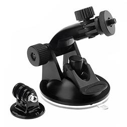 Walway Action Camera Car Suction Cup Mount+ Tripod Adapter f