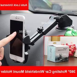 Auto Lock Universal 360° Rotating Car Windshield Mount Hold