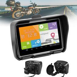 "Bluetooth 4.3"" Motorcycle GPS Navigator 8GB Android Navigati"