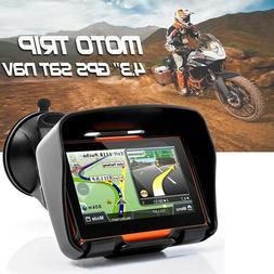 bluetooth GPS Motorcycle Car Navigation Waterproof Motorbike