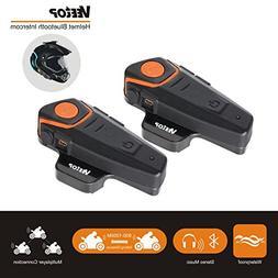 Bluetooth Motorcycle Helmet Headset Intercom, Veetop 1000M W