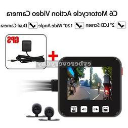 C6 Motorcycle Camera Motorbike Dual HD Dash Video Wide Angle